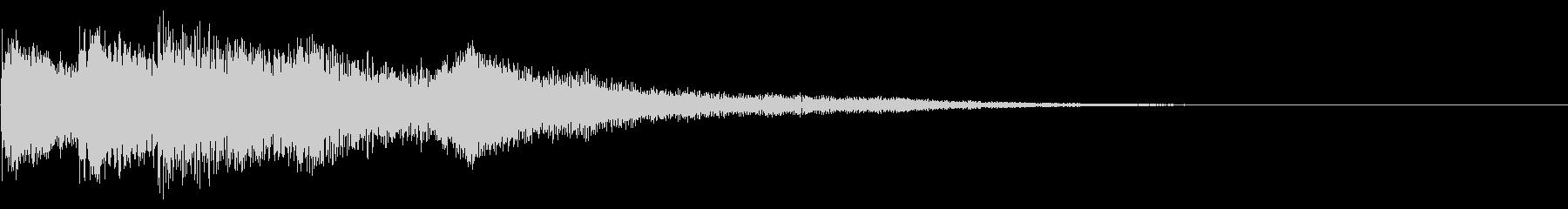 チャイム 3の未再生の波形