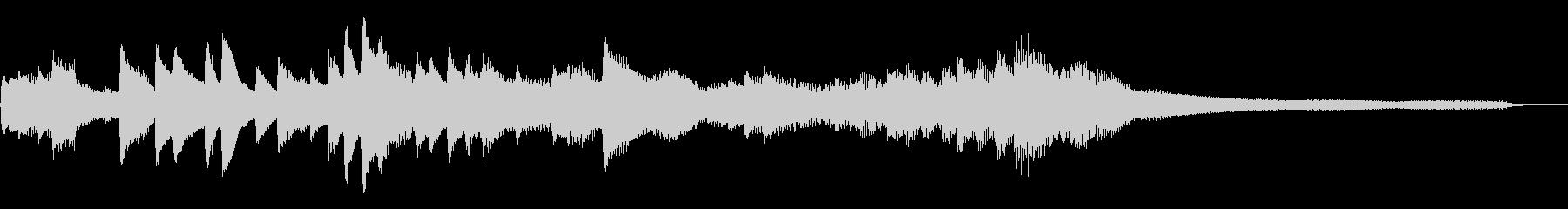 踊り子の和風ジングル23-ピアノソロの未再生の波形