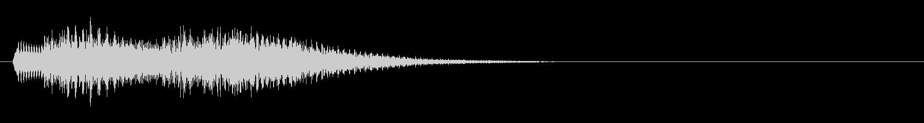 ゲームの決定音などに使える シャラン音の未再生の波形