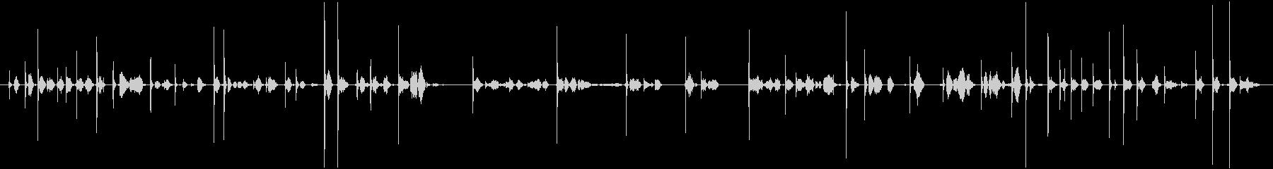 カキカキ(鉛筆で文字を書く音)木の板Aの未再生の波形