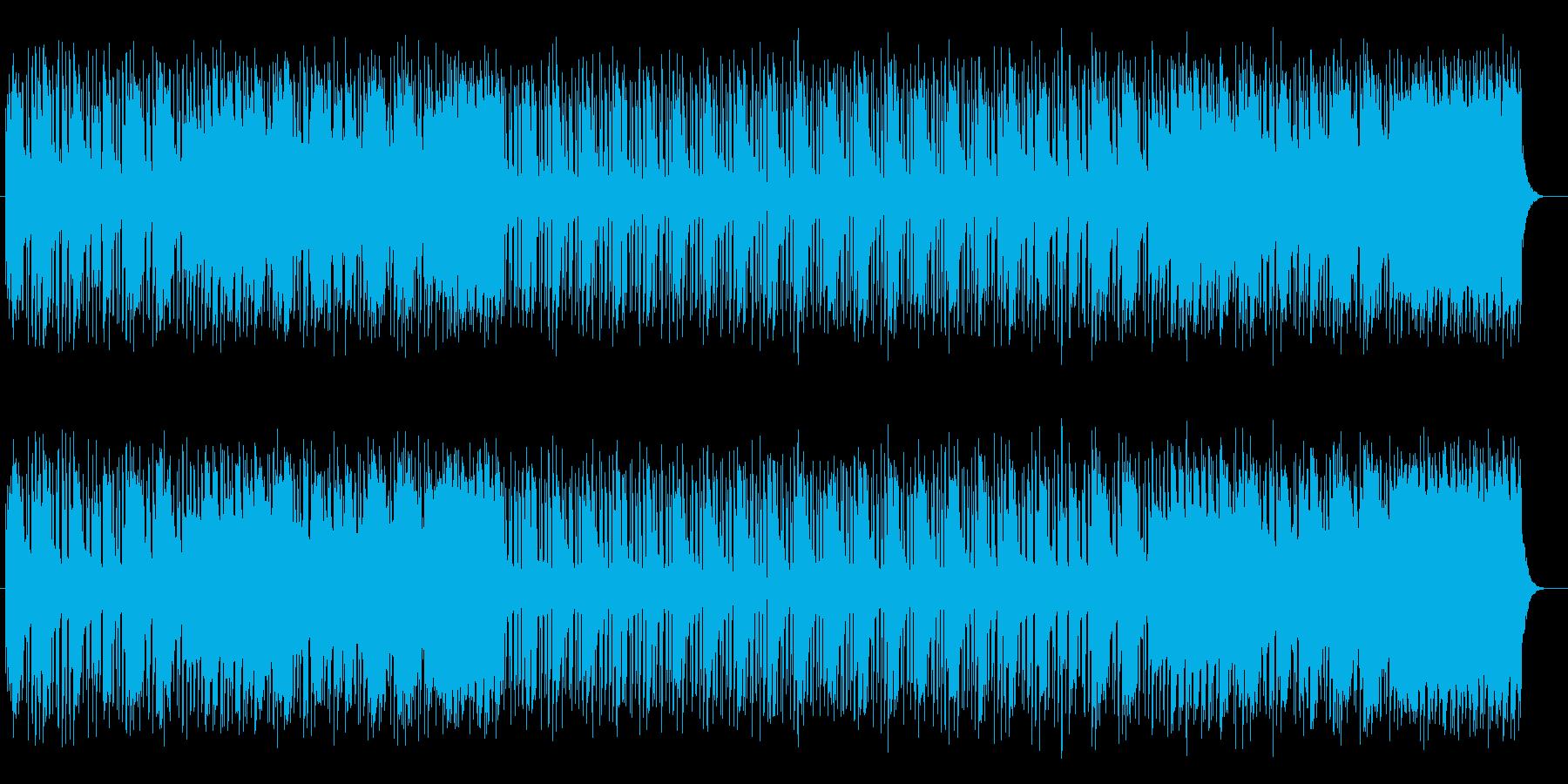 ピアノのイージーリスニング曲の再生済みの波形