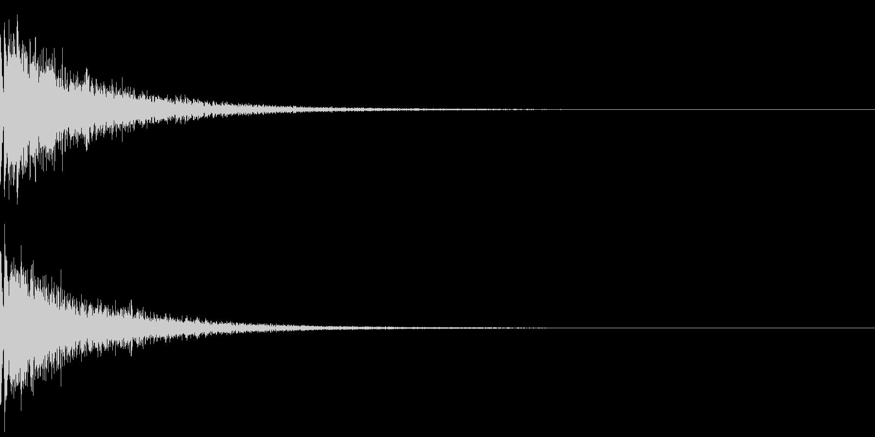 指パッチン:デフォルメした音の未再生の波形