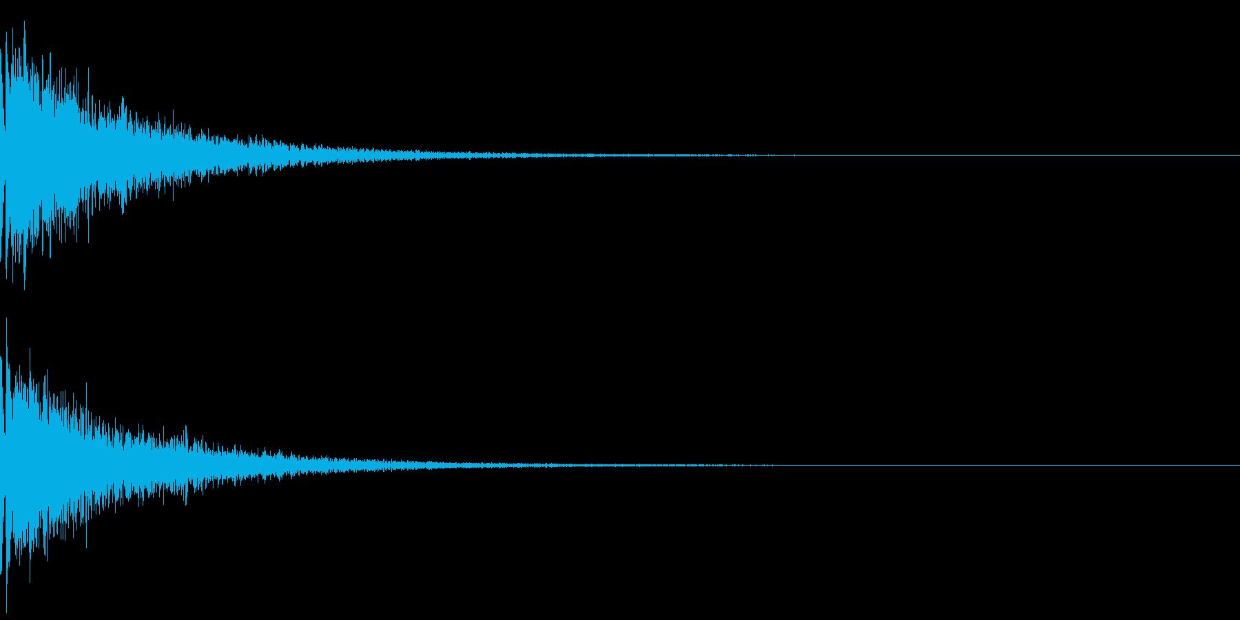 指パッチン:デフォルメした音の再生済みの波形