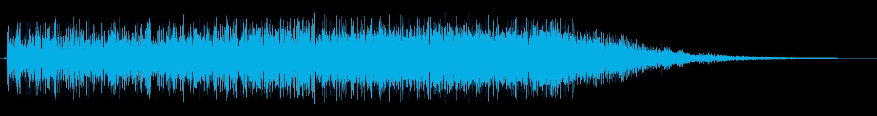 宇宙船内でのアラート音の再生済みの波形