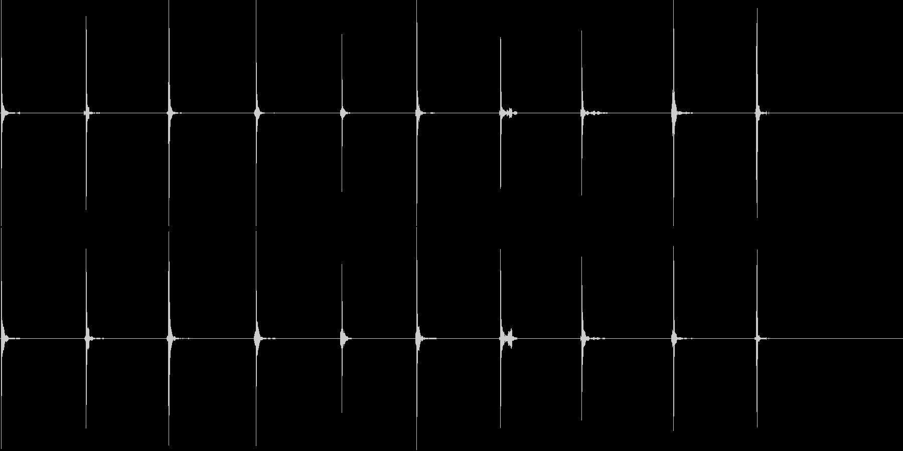 骨への影響、大きな11-20の未再生の波形