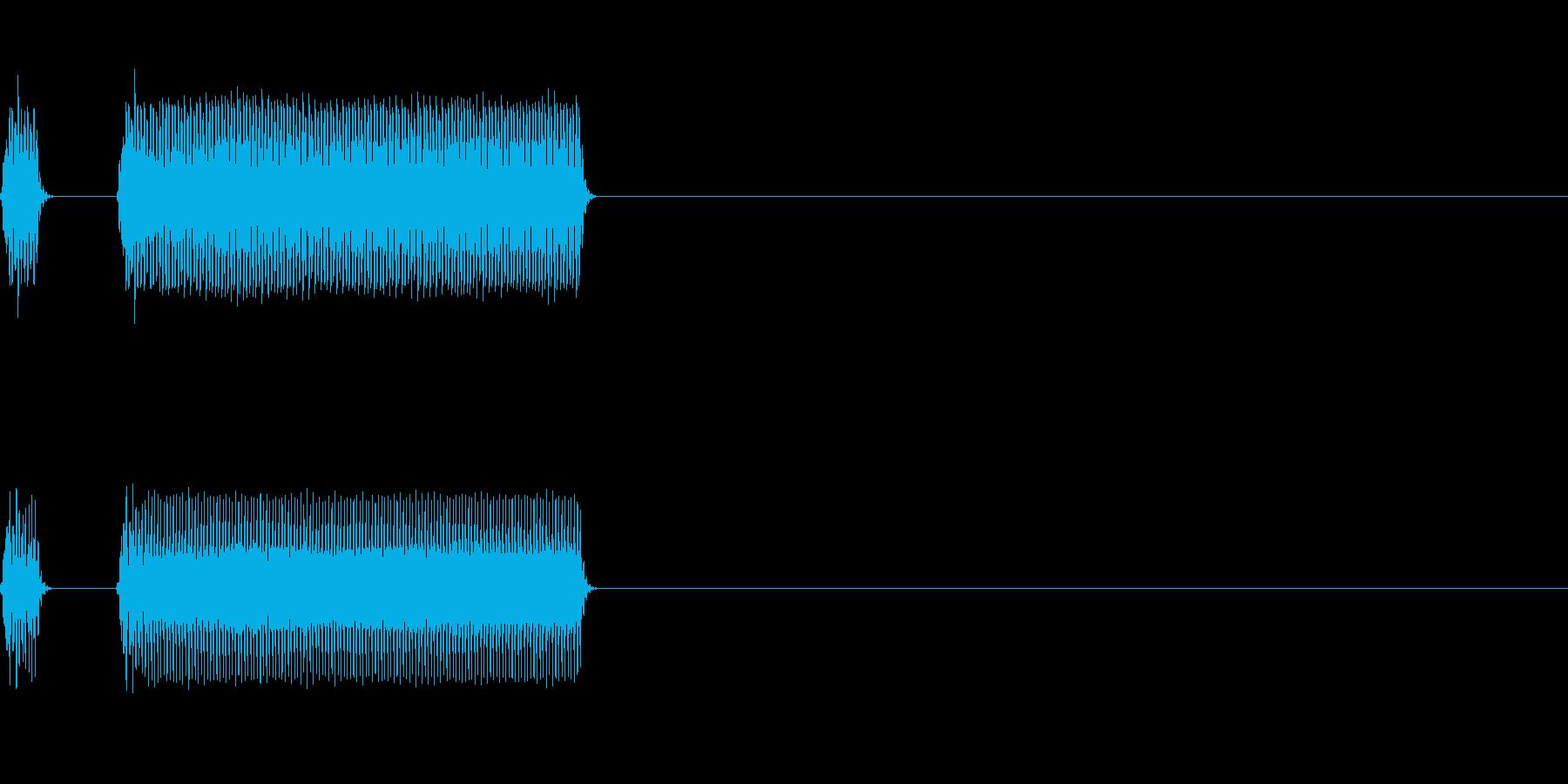 ブッブー、不正解の再生済みの波形