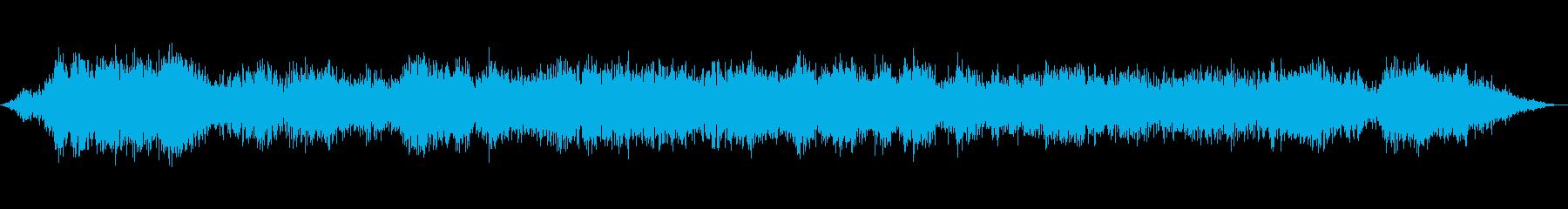 低音、クローズアップ、自然災害嵐と...の再生済みの波形