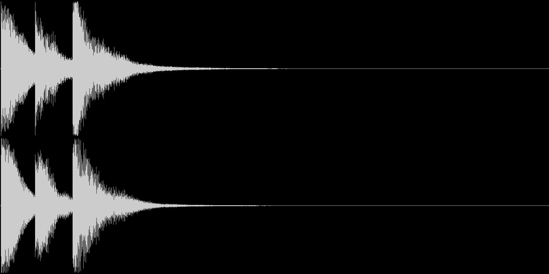 シンプルなゲームクリア音 3音 場面転換の未再生の波形