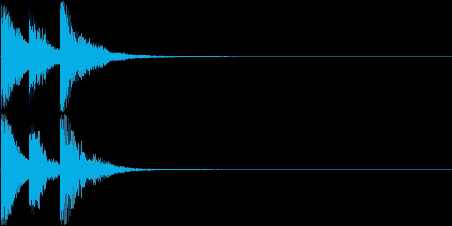 シンプルなゲームクリア音 3音 場面転換の再生済みの波形
