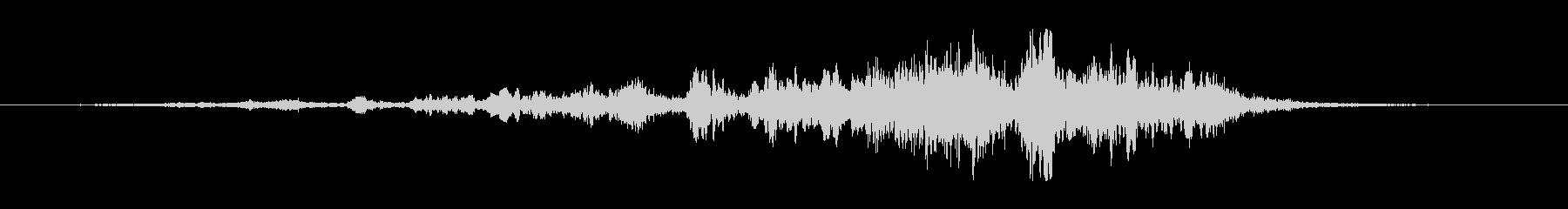 イイジマムシクイのさえずり(1声のみ)の未再生の波形
