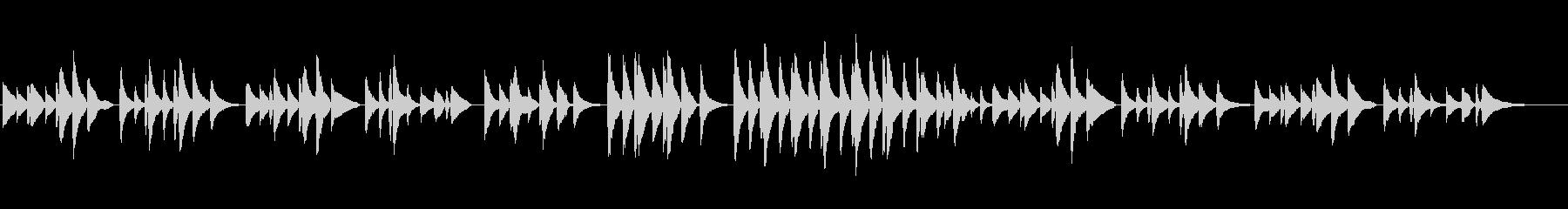クラシックピアノ「お人形の葬式」の未再生の波形