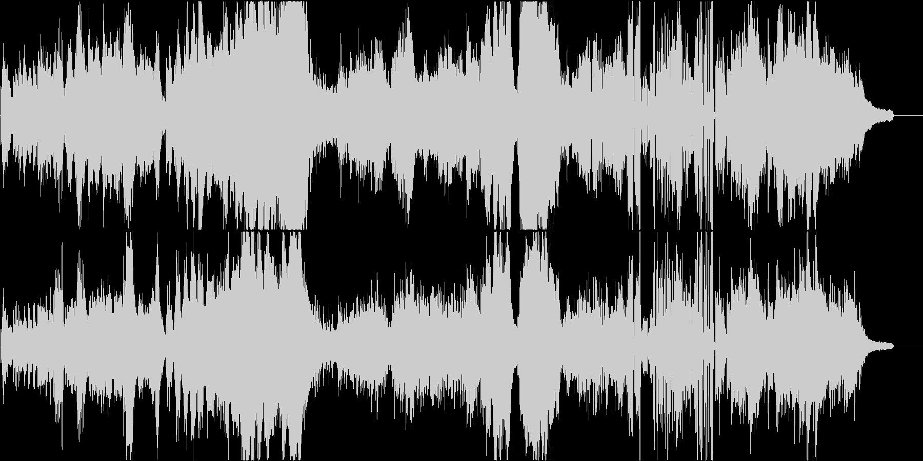 木星をイメージした優美壮大なピアノソロ曲の未再生の波形
