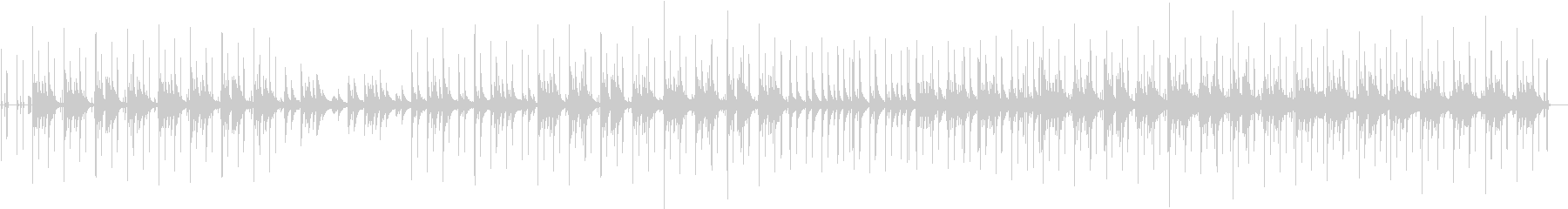 ピアノの音がメインのゆったりとした曲の未再生の波形