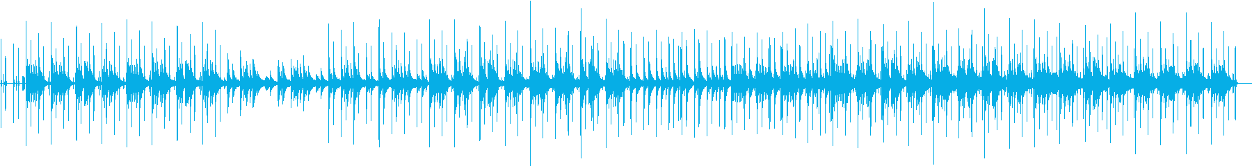 ピアノの音がメインのゆったりとした曲の再生済みの波形