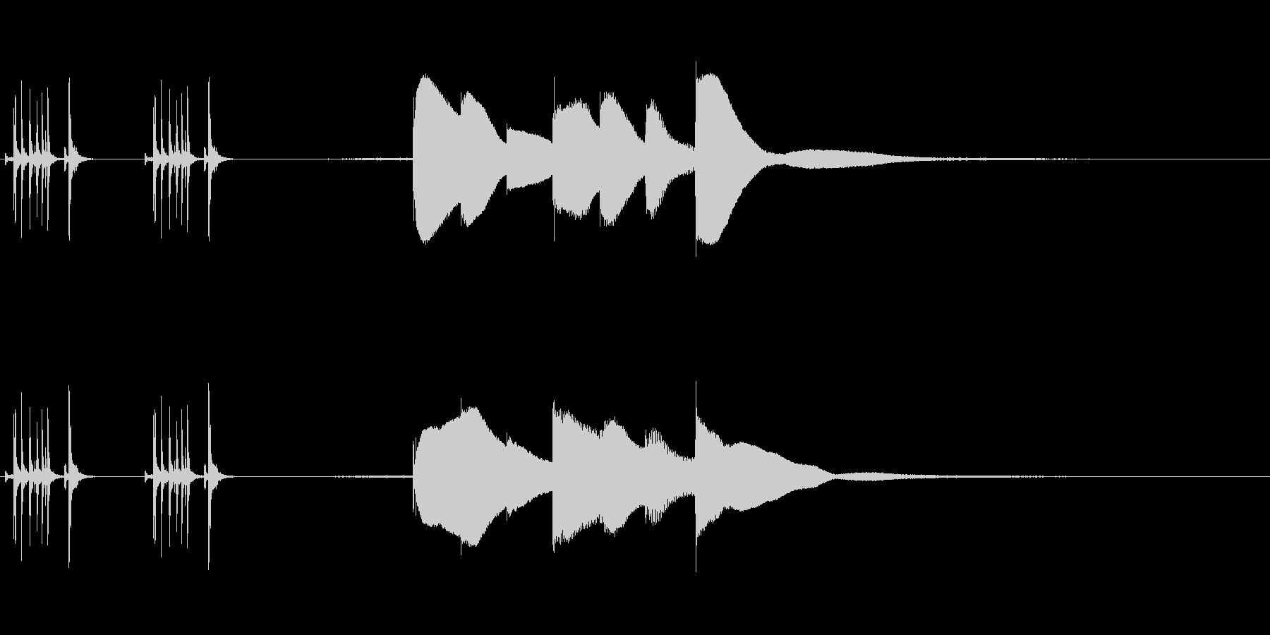 ジングル用オルゴール楽曲09-1の未再生の波形