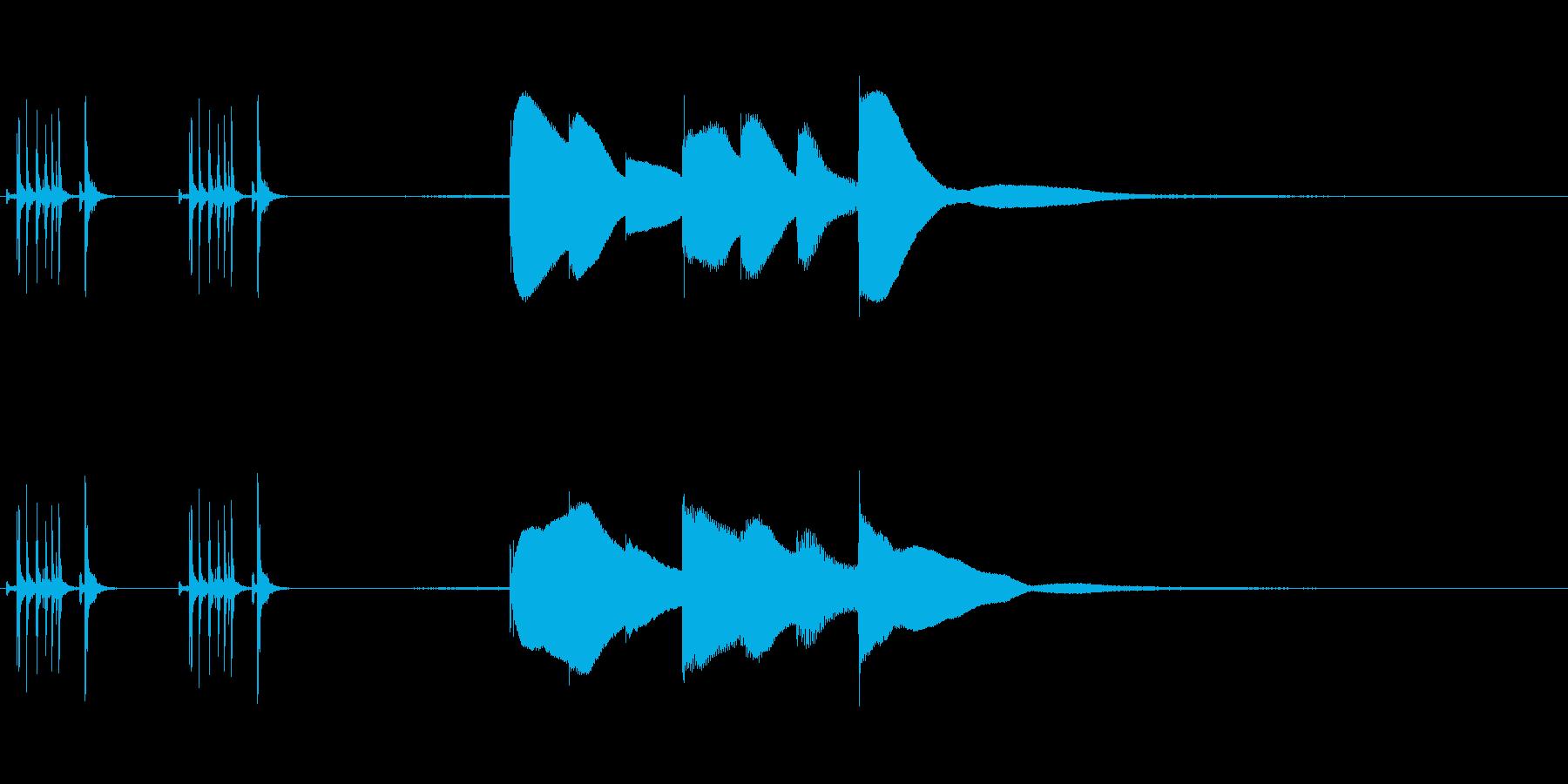 ジングル用オルゴール楽曲09-1の再生済みの波形