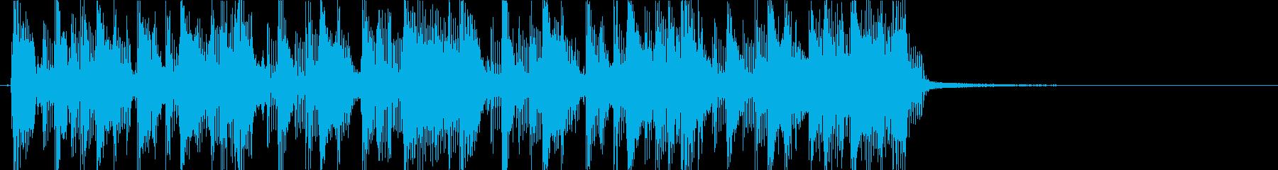 ギターカッティングのファンキーなジングルの再生済みの波形