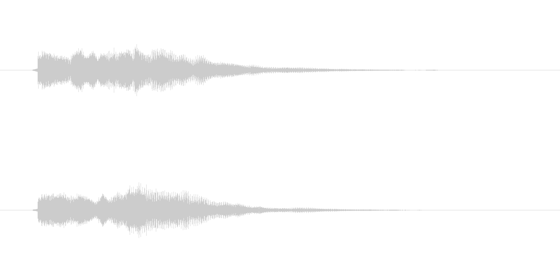回復音、復活音、回復魔法、セーブ音の未再生の波形