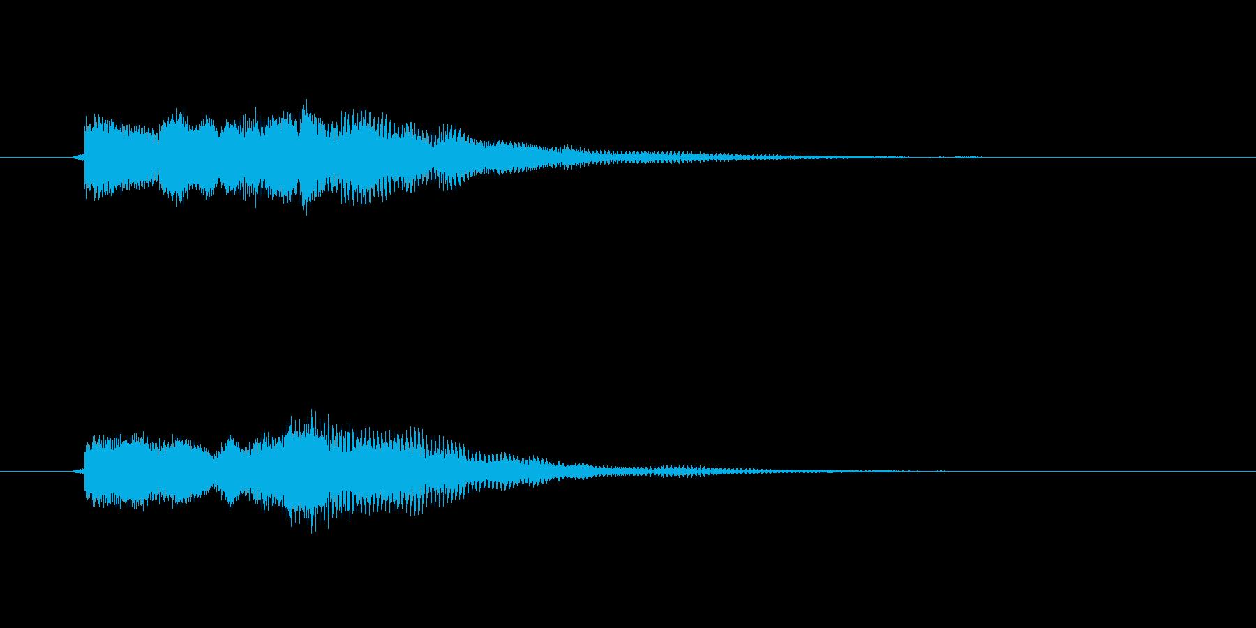 回復音、復活音、回復魔法、セーブ音の再生済みの波形
