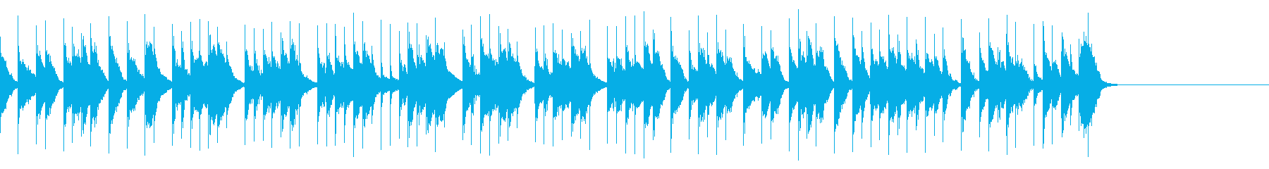 小動物がちょこっと顔を出しているような曲の再生済みの波形