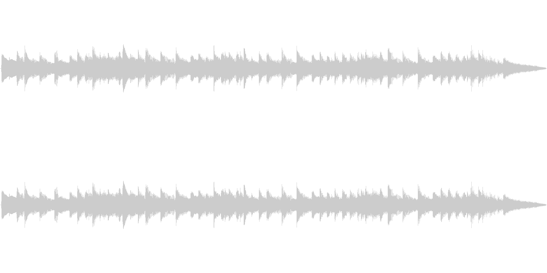 アラーム音-1 15秒の未再生の波形