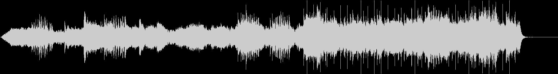 深く静かな神秘的イメージのBGMの未再生の波形
