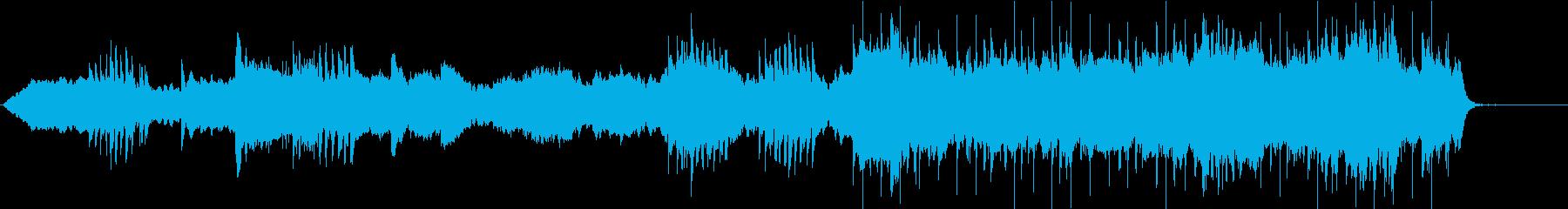 深く静かな神秘的イメージのBGMの再生済みの波形