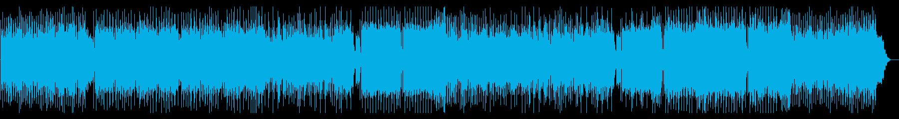 追跡シーンなどをイメージした緊迫系楽曲の再生済みの波形
