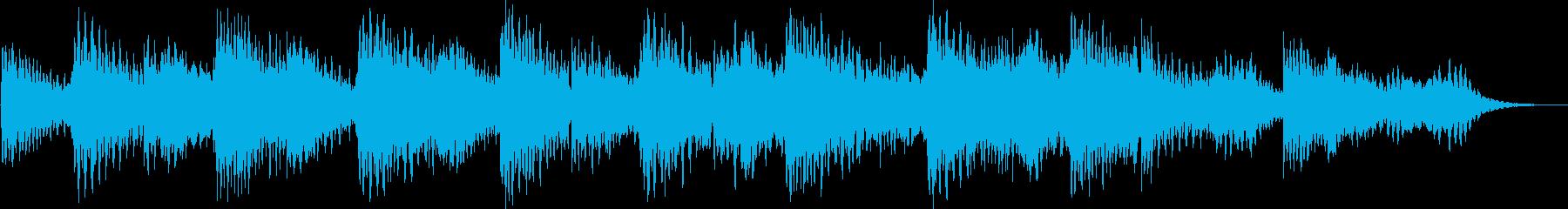 穏やかで優しいパッド系の環境音楽の再生済みの波形