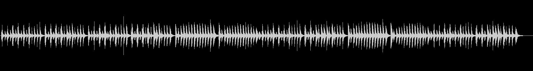 クラシックピアノ、チェルニーNo.40の未再生の波形