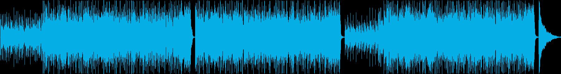 軽やかなアコースティック音色のトラックの再生済みの波形