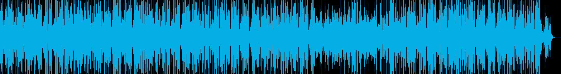 お洒落なピアノとヒップホップのビートの再生済みの波形
