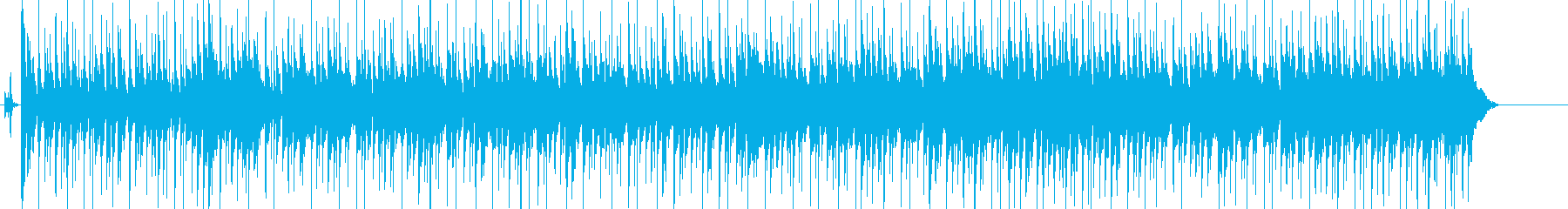 南国リゾート風の軽快でほのぼのしたBGMの再生済みの波形