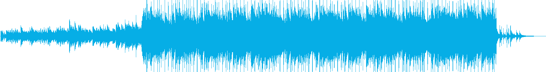 ゆったりとした和風ロックの再生済みの波形