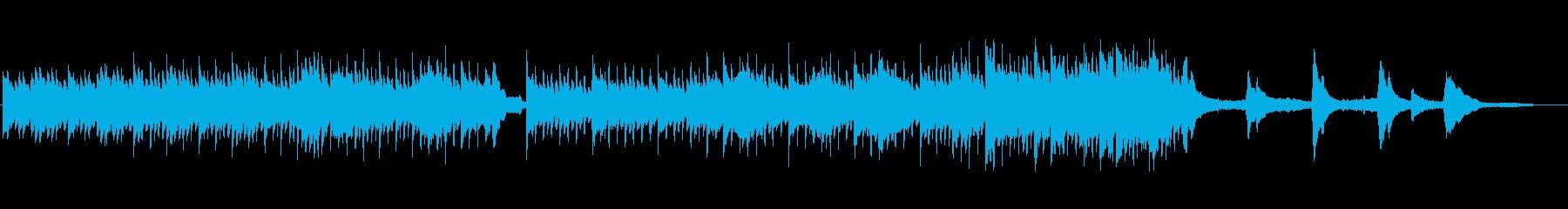 シンプルなピアノとストリングスの再生済みの波形