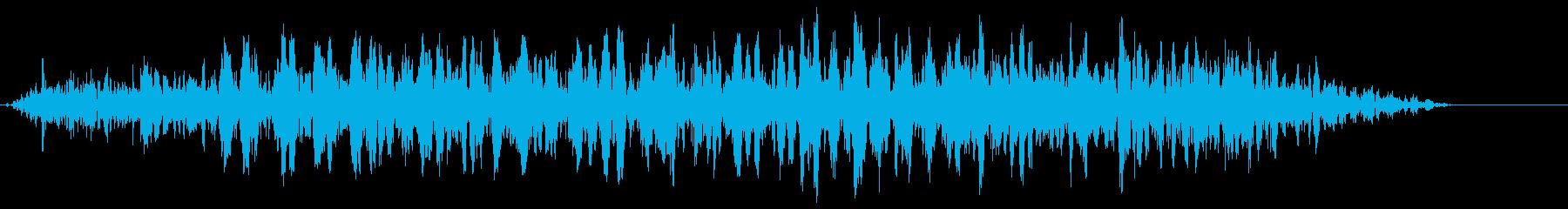 嵐の音 ゴーーーの再生済みの波形