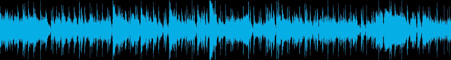 ソロトランペットが印象的なジャズトラックの再生済みの波形