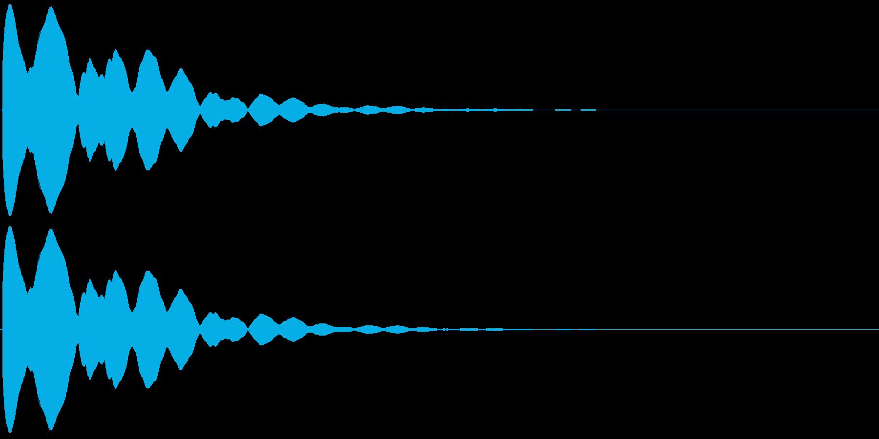 キュイン(飛ばされて星になる タイプ2)の再生済みの波形