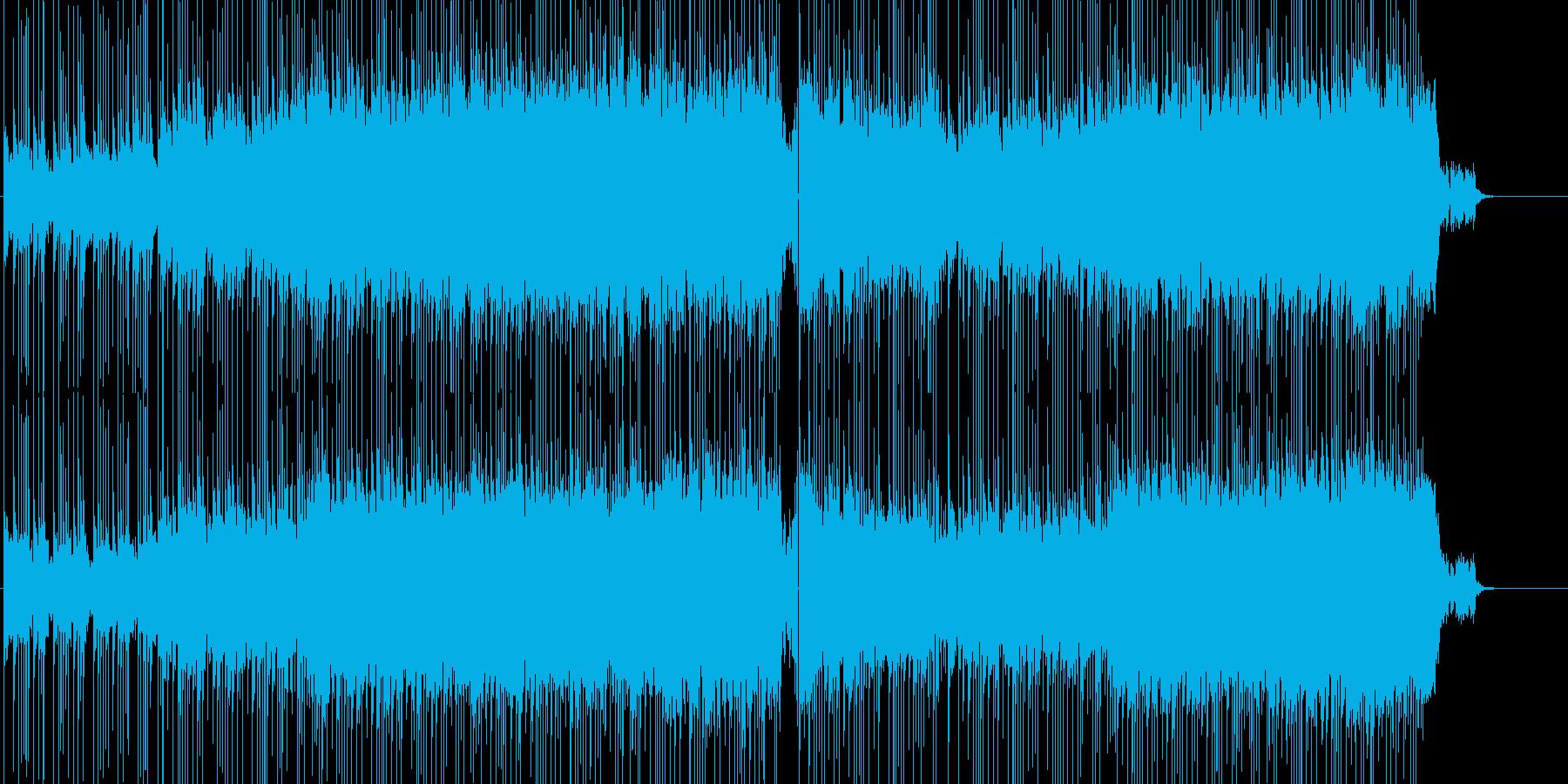 リズミカルで爽やかさのあるロックの再生済みの波形