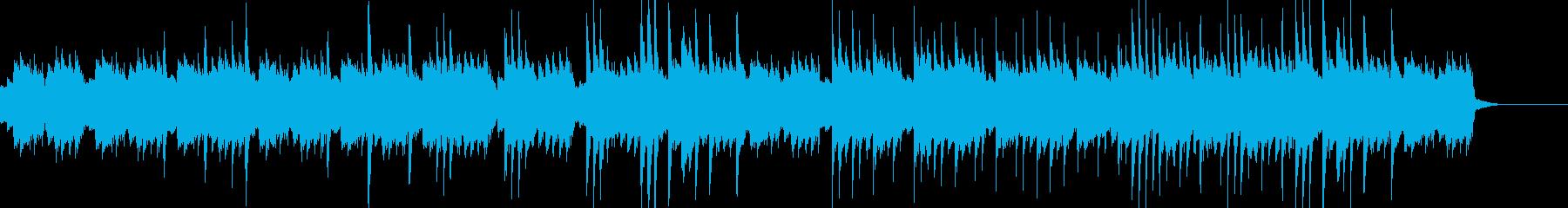 暗いピアノソロの再生済みの波形