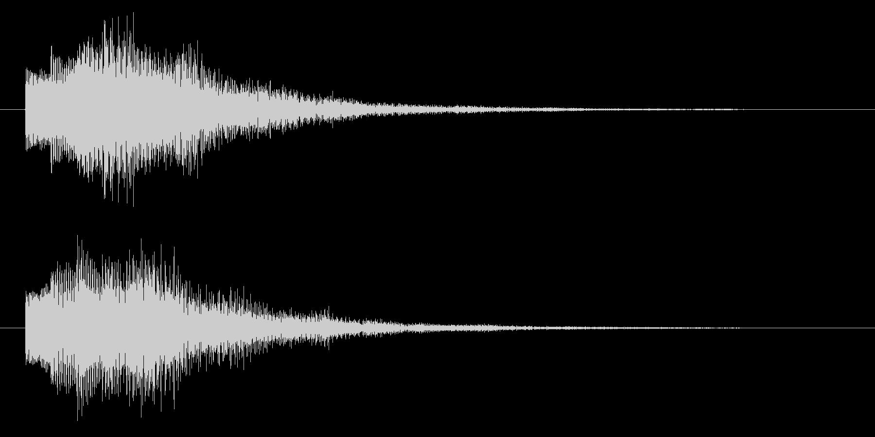 ニュースのテロップをイメージした音10の未再生の波形