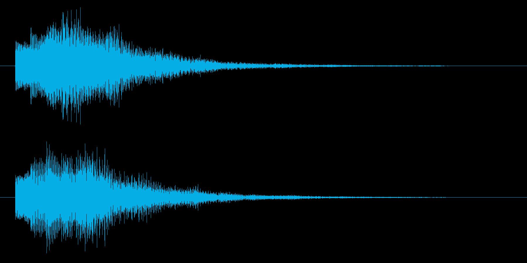 ニュースのテロップをイメージした音10の再生済みの波形
