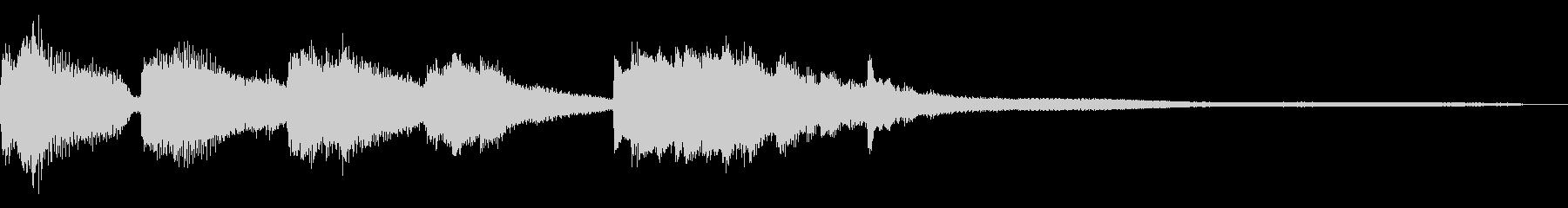 ジングル用の短いピアノフレーズの未再生の波形