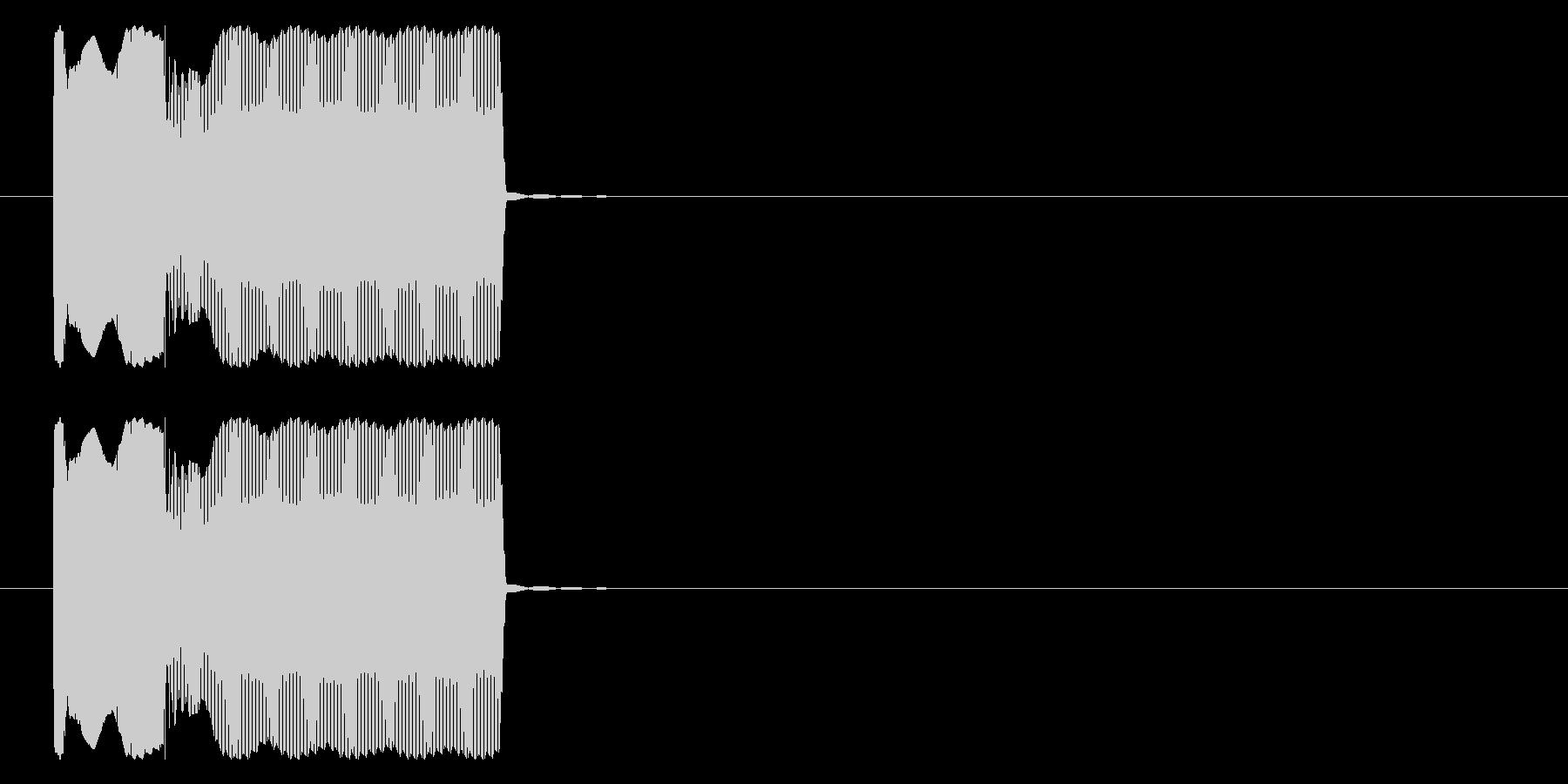 早押しボタン クイズ ピンポン の未再生の波形