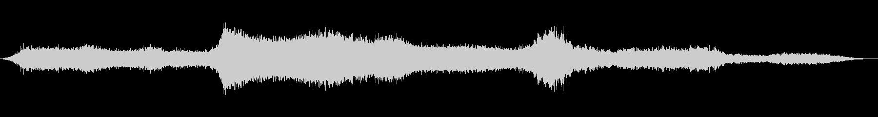 変換の未再生の波形