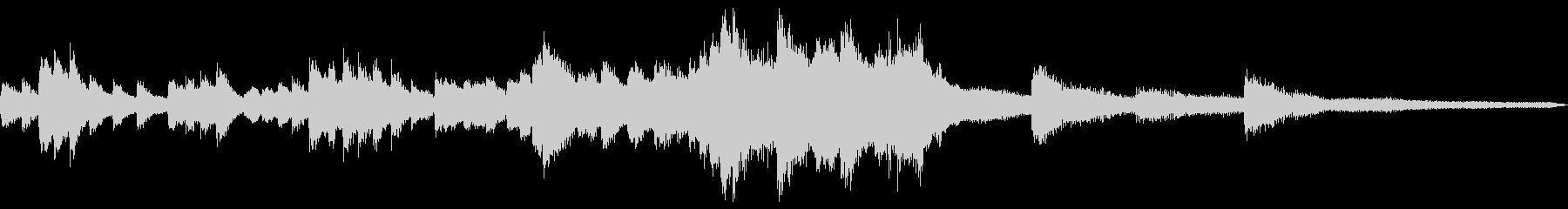 夜景のための和風ジングル16-ピアノソロの未再生の波形