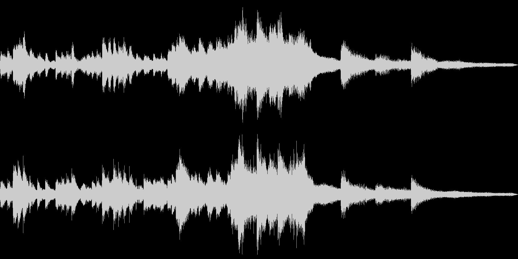 夜の和風ジングル16-ピアノソロの未再生の波形