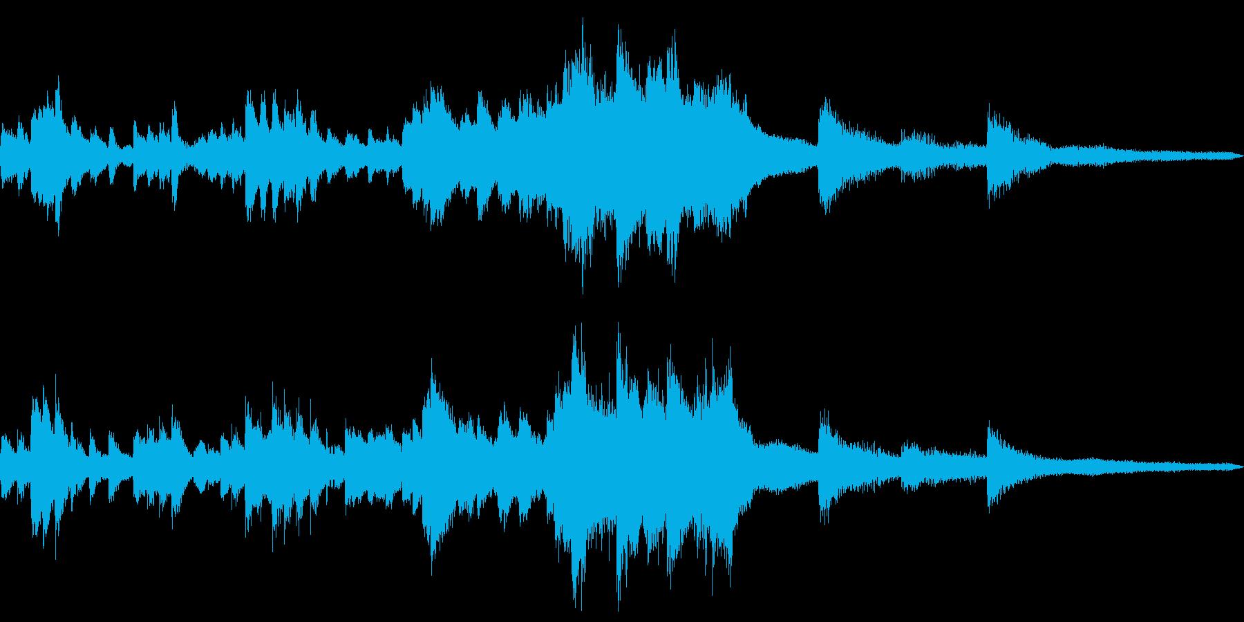 夜の和風ジングル16-ピアノソロの再生済みの波形