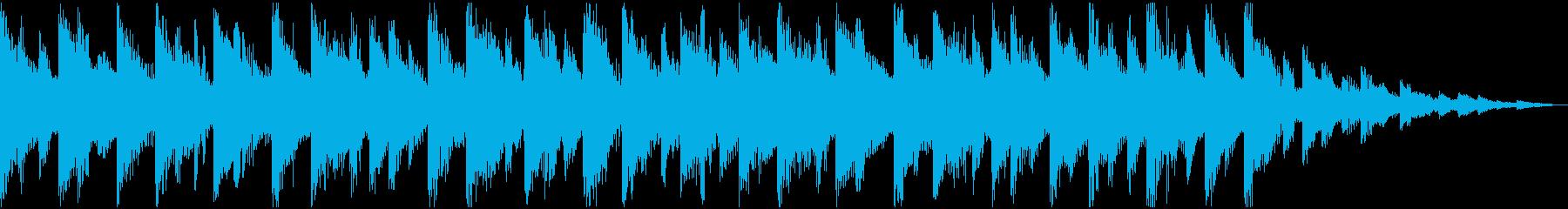 YouTube エンディングカードEDMの再生済みの波形