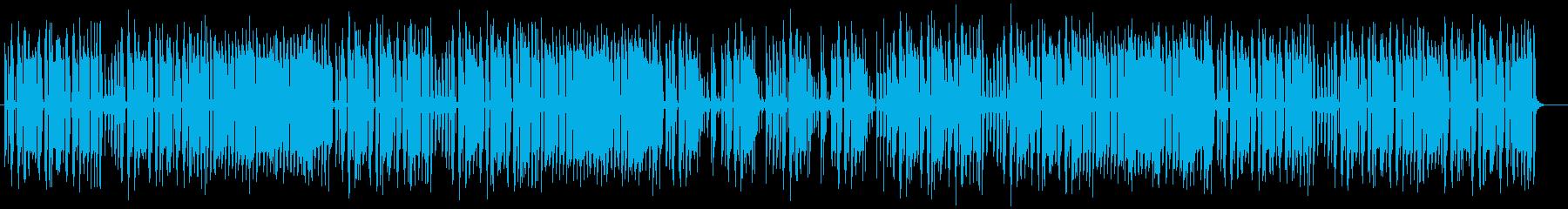 コミカルで楽しげなシンセサイザーサウンドの再生済みの波形